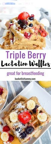 Triple Berry Lactation Waffles (Great for Breastfeeding) - Food Meme #food #meme #recipes -  SAVE THESE WAFFLES! You are going to want to make these lactation waffles everyday after the baby comes. They are so good and really do help with milk supply! #breakfast #waffles #wafflerecipes #bre  The post Triple Berry Lactation Waffles (Great for Breastfeeding) appeared first on Gag Dad.