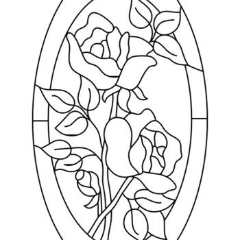 Stain glass flowers