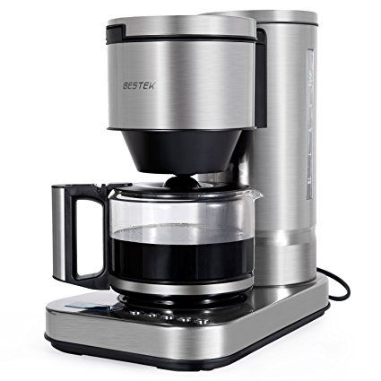 Bestek 10 Cup Drip Coffee Maker In Stainless Steel Programmable And Aroma Control With Perma Stainless Steel Coffee Maker Best Drip Coffee Maker Coffee Maker