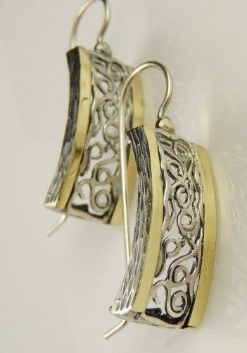 marimea 7 calitate autentică design nou Poze Cercei argint si aur 14K -200535 | Argint, Bijuterii și Cercei