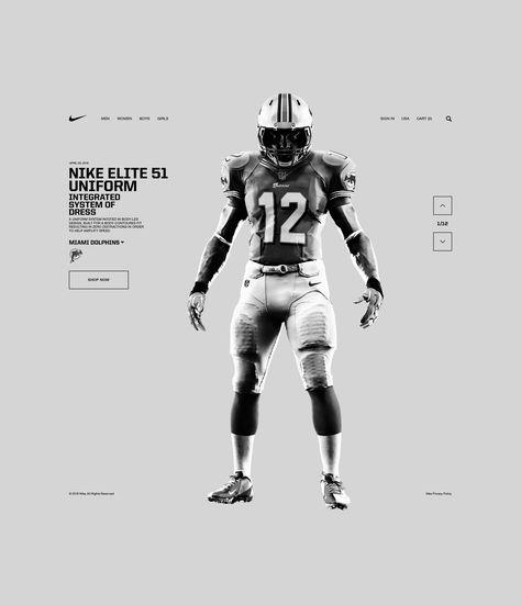 Nike Elite 51 Uniform Sports Graphic Design Modern Web Design Web Design