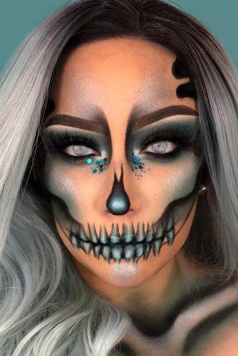 Halloween Looks Scary.51 Sexy Halloween Makeup Looks That Are Creepy Yet Cute