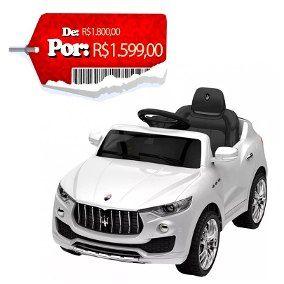 Carro Eletrico Infantil Maserati Branca 6 Volts Xalingo