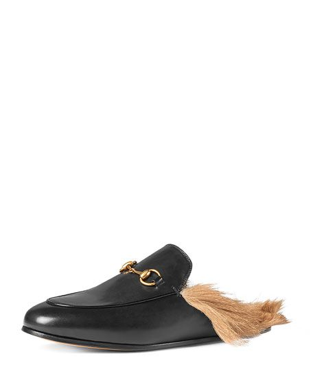 59ddb32d1ef Gucci Kangaroo-Fur-Lined Slippers Are Most Buzzed-About Shoe of the Fall!  There has been a lot of controversy regarding these Gucci  990 buzzed  slippers .