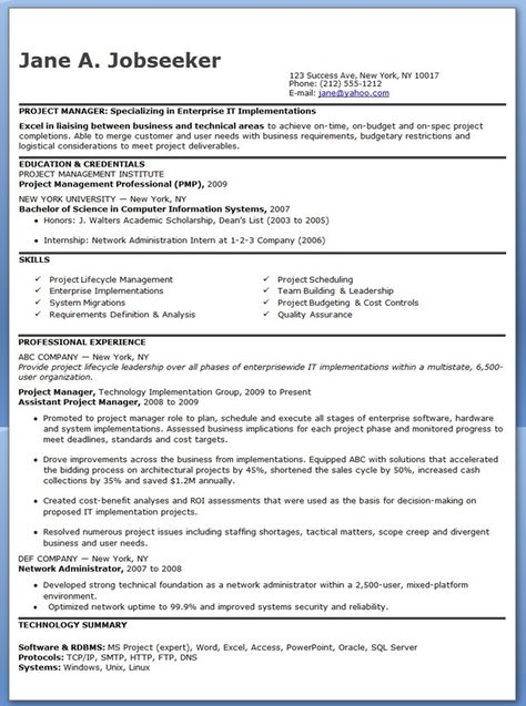 Sample Of Curriculum Vitae For Business Administration Graduate - enterprise data management resume