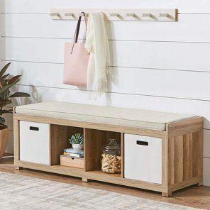 Cube Organizer Bench Walmart Com In 2020 Entryway Bench Storage Storage Bench Cube Organizer
