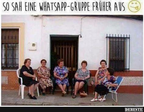 So Sah Eine Whatsapp Gruppe Fruher Aus Lustige Profilbilder