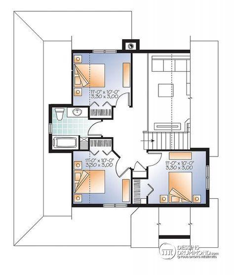Plan De Maison Unifamiliale Gaillon No 2597 1013 Plan