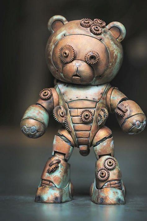 steampunktendencies:    Steampunk Bearguy by Kevin Tan