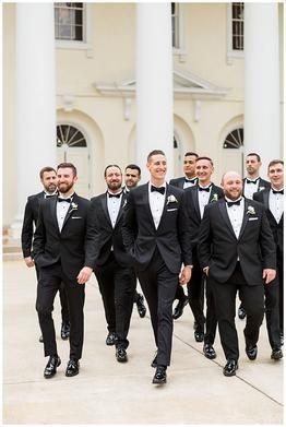 Formal Atlanta Wedding Black Tie Wedding Attire Groomsmen Attire Black Tuxedo Wedding Groomsmen