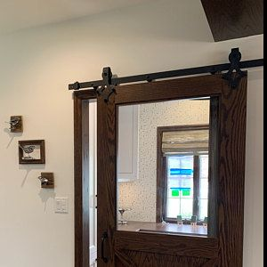 Single Track Bypass Mini Barn Door Hardware Kit Cabinet Tv Etsy In 2020 Sliding Barn Door Hardware Barn Door Hardware Barn Door