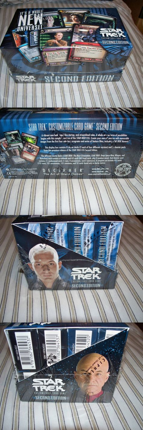 STAR TREK CCG SECOND EDITION COMBO BOX BOX factory sealed