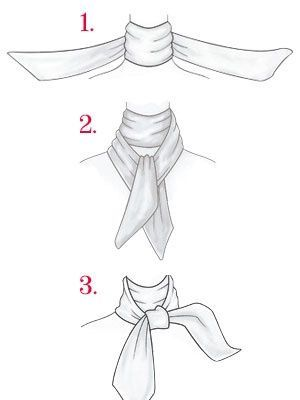 Fashion infographic & data visualisation   how to tie silk scarf   Infographic   Description  how to tie silk scarf    – Infographic Source –