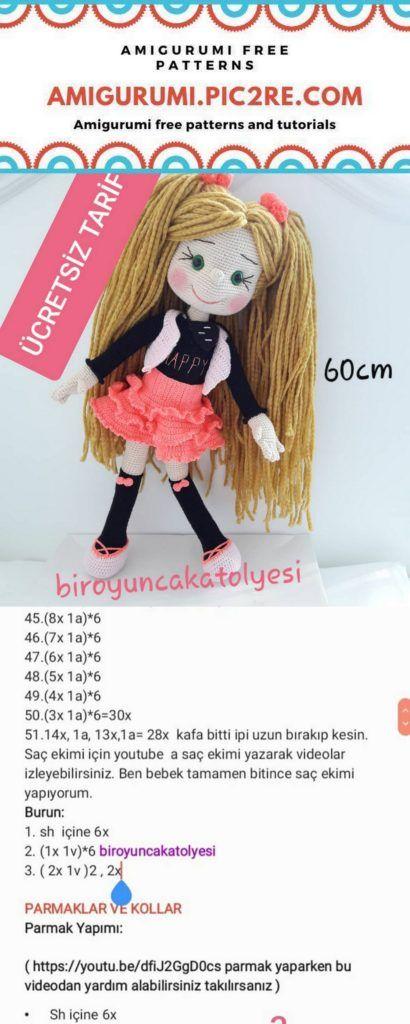 Büyük Boy PEPEE'nin TARİFİ / YAPILIŞI | Amigurumi oyuncak bebek ... | 1024x410
