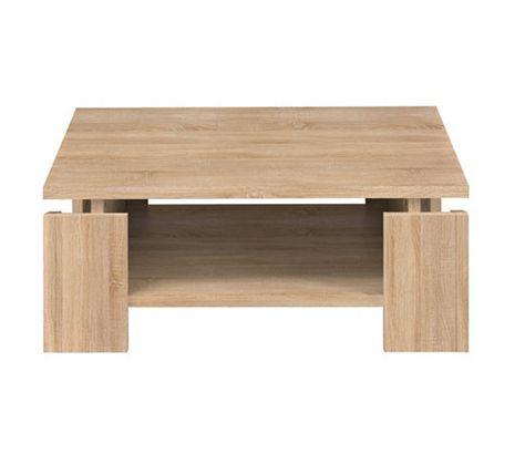 livraison gratuite 7064e ca685 Table basse carrée PALACE Imitation chêne sonoma   Wish ...