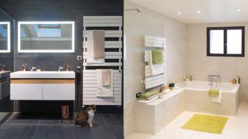 Les Deux Salles De Bains De Frederic Du Confort Pour Toute La Famille Salle De Bain Chambre A Coucher Avec Dressing Maison