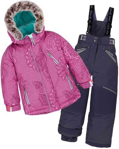 2 PCS Kid Girl Boy Warm Cotton Hooded Ski Snow Suit Coat/&Pants Size 4-16 Outdoor