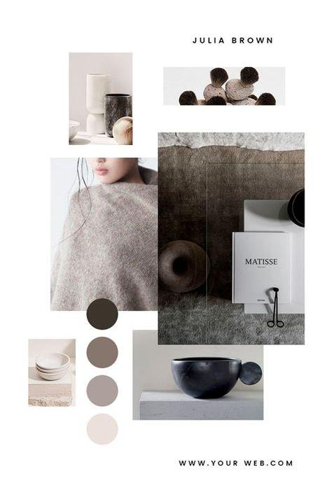 Moodboard, Design, Branding, Farbpalette, neutrale Palette, #Moodboard, #Colorp ...   - Mood ...