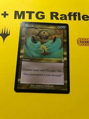 Ad Absorb Invasion Mtg Card Plus Magic The Gathering Raffle