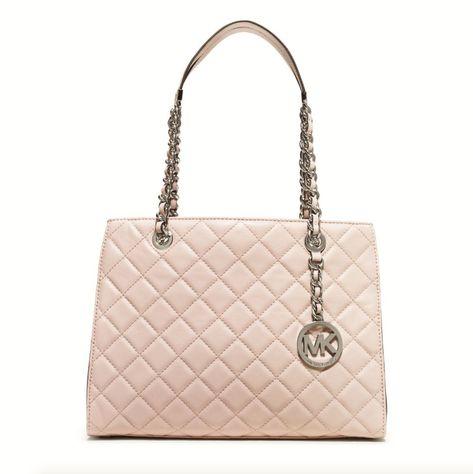 e569ba2a776262 Michael Michael Kors Susannah Quilted Blush Leather Medium Tote Retail:  $358.00 #fashion #clothing