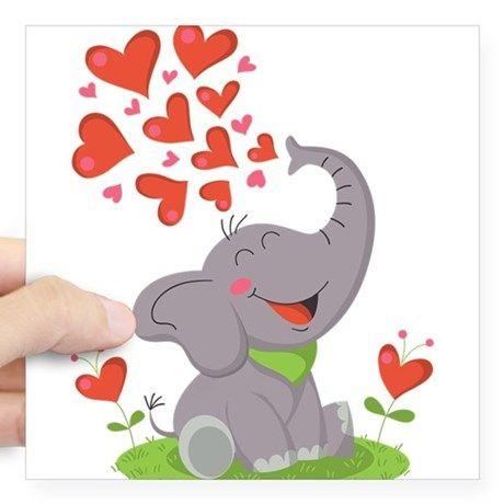На день святого валентина открытку в розовых слонах, надписями будешь