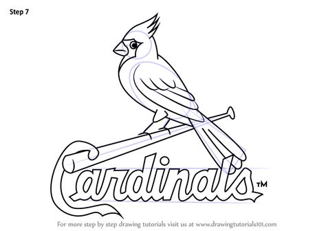How To Draw St Louis Cardinals Logo Drawingtutorials101 Com Cardinal Drawing Drawings Cardinals