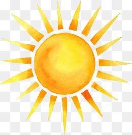 2020 的 Cartoon Hand Painted Summer Sun Watercolor Summer