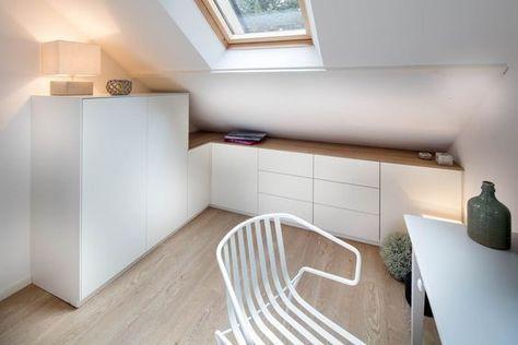 Petite Surface Les Meubles Parfaits Pour Optimiser L Espace Meuble Sous Pente Amenagement Combles Chambre Et Decoration Combles