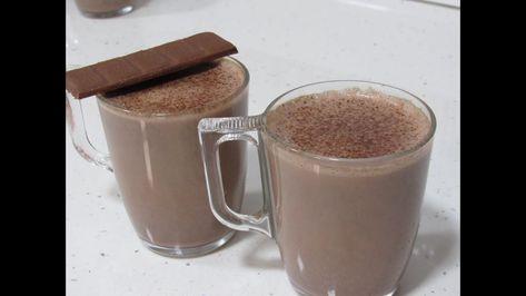 مشروب الكاكاو بالحليب مثل الكافيهات حضروه للعائلة و الضيوف بالمنزل و بدق Milk Glassware Tableware