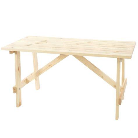Mendler Table de jardin Oslo, table en bois, qualité de brasserie ...