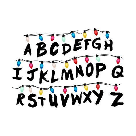 Stranger Things Alphabet Stranger Things Sticker Stranger Things Alphabet Wall Stranger Things Font