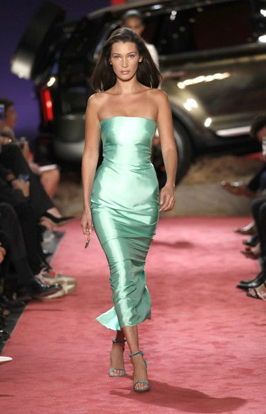 Model Bella Hadid walks the runway at Brandon Maxwell during New York Fashion Week.