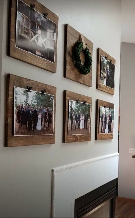 Home by Hayley's faux shiplap farmhouse frames