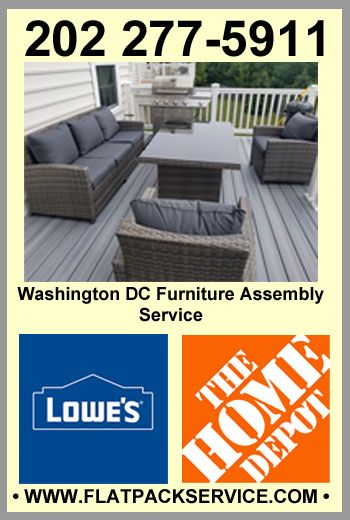 1 Home Depot Lowes Furniture Assembly Service In Washington Dc 202 277 5911 Flatpack Asse Furniture Assembly Flat Pack Furniture Ikea Furniture Assembly