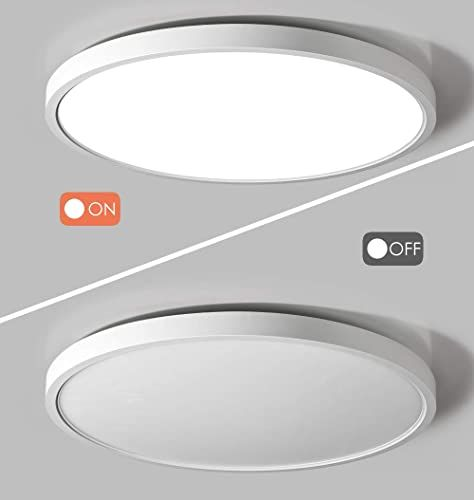 Enjoy Exclusive For Taloya Flush Mount 12 Inch Ceiling Light Milk White Shell 20w Surface Mount Led Light Fixture Bedroom Kitchen 3 Color Temperatures One In 2020 Led Ceiling Light Fixtures Ceiling
