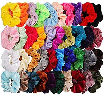 40Pcs Hair Silk Scrunchies Satin Elastic Hair Bands Scrunchy Hair Ties Ropes