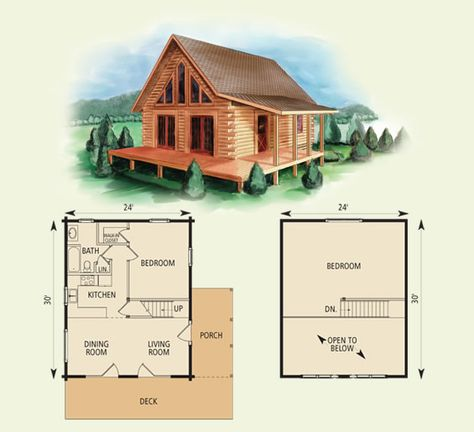 cabin plans - west virginian log home and log cabin floor plan Small Cabin Plans, Log Cabin Floor Plans, Small Floor Plans, Cabin House Plans, Log Cabin Homes, Tiny House Plans, House Floor Plans, Small Cabins, Cabin Plans With Loft