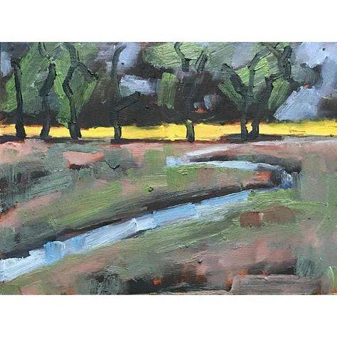 Olema Point Reyes Original Landscape Oil Painting Landscape Paintings Painting Green Wall Art
