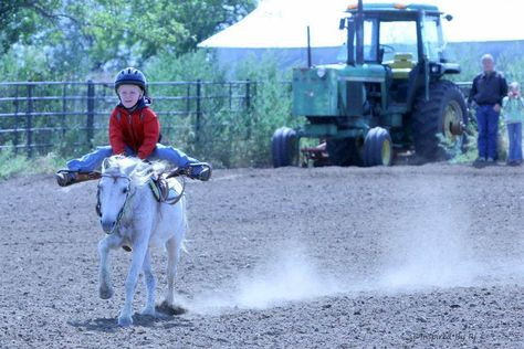 I'm almost afraid to go against this kid in a barrel race . . . almost.