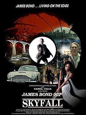 Skyfall Movie Poster James Bond Movie Posters James Bond Movies Bond Movies