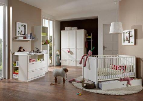 Kinderzimmermöbel baby  3-tlg. Baby-/Kinderzimmer in alpinweiß Kleiderschrank B: 135 cm ...
