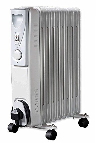 Mp Essentials 2000w Floor Standing Oil Filled Radiator Heater With Thermostat White Oil Filled Radiator Radiator Heater Radiators