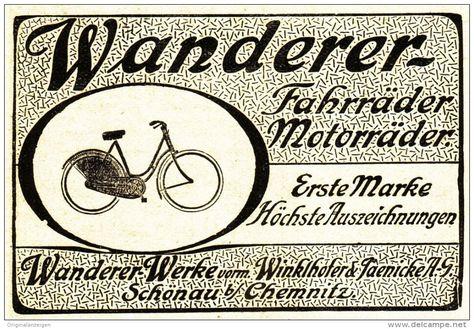 Original Werbung Anzeige 1910 Wanderer Fahrrader Vorm