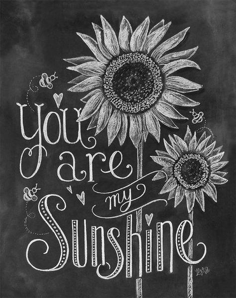 chalk art ideas | Sunshine quote | summer quote | summer chalk art
