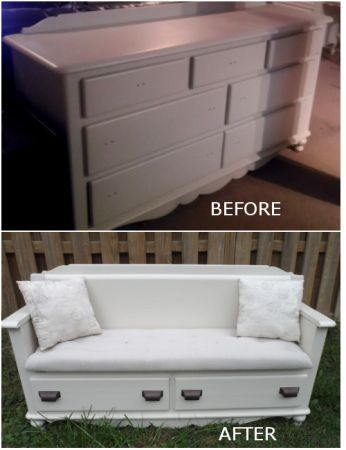 Great Instead Of Discarding Your Old Dresser, Why Not Give It A New Life By  Turning It Into A Bench? Check Out The Full Album To Know How You Can Make  You2026