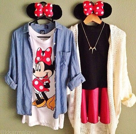 Disney land is coming up and who wouldn't want to look super cute with one of their best friends? Well these outfits are cute and comeftorable for a day at the park (: (I'm Hopefully getting the one on the right ((: )