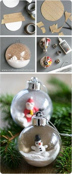 15Pcs Clear Ball Xmas Plastic Baubles Refillable Craft Christmas Party DIY Decor