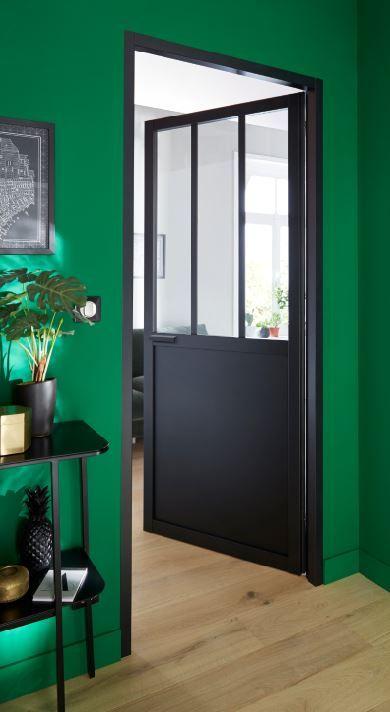 Bloc Porte Atelier Noir 83cm Poussant Gauche En 2019 Idées