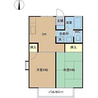 部屋全体 2dk 極狭 間取り図 アパート などのインテリア実例 2014 10 01 00 33 21 Roomclip ルームクリップ 間取り 間取り図 2dk 間取り