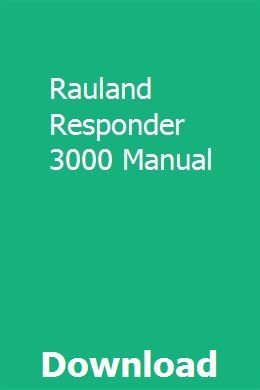 Rauland responder 3000 user manual.